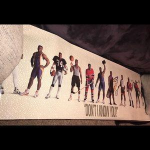 Original authentic vintage Nike Bo Jackson poster